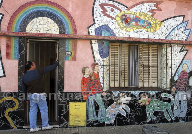 Mosaïques Barracas, street-art