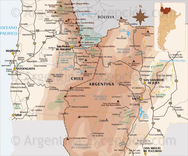 Noroeste Argentina y Atacama en Chile