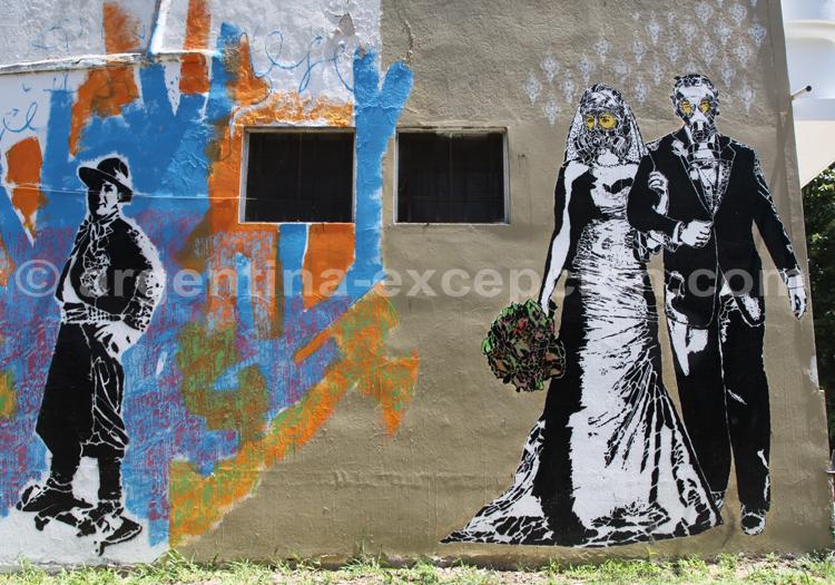 Palermo, collage et graffitis