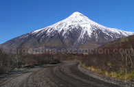 Paso Mamuil Malal, volcan Lanín