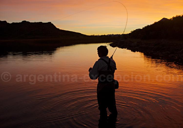 Pêche en Chubut, Tres Valles