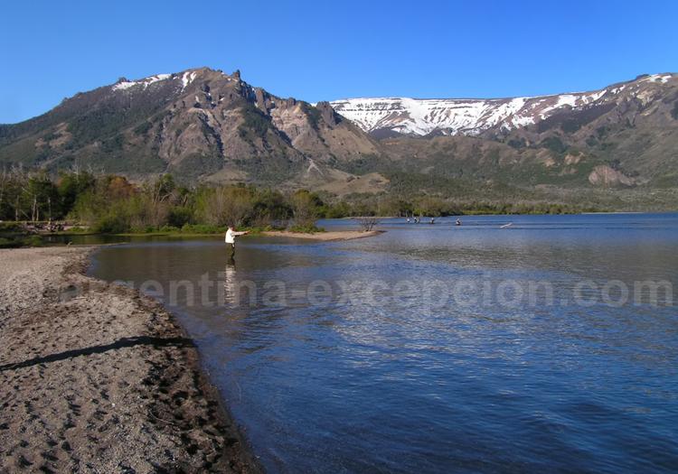 Pêche à Neuquen, lac Meliquina