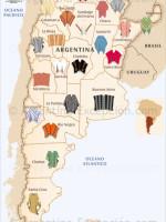 Mapa de los ponchos en Argentina