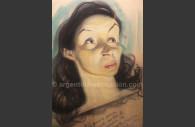 Portrait Tita Merello café Tortoni