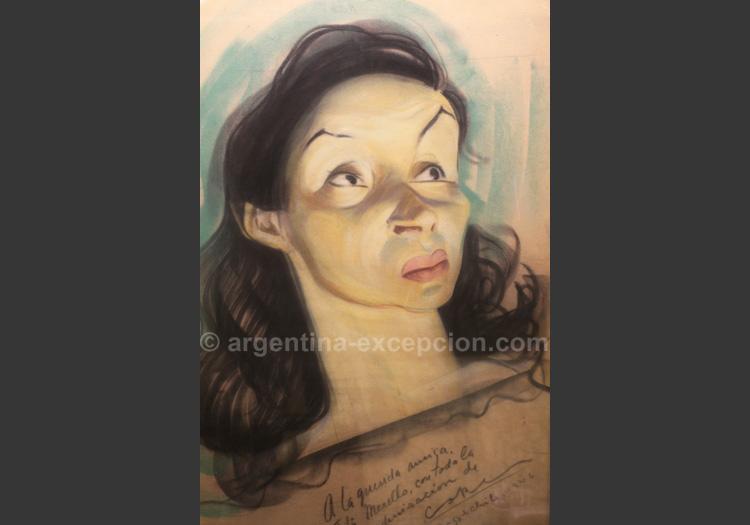 Portrait Tita Merello 1946, café Tortoni