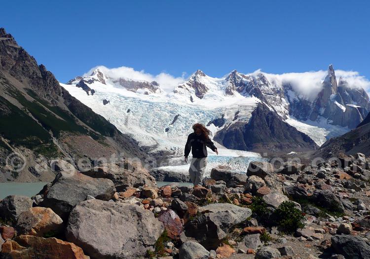 Lagune Torre, glacier Torres et Cerro Torre vus depuis le mirador Maestri