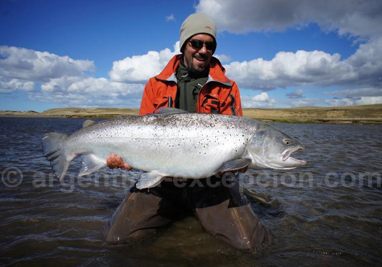Saumon royal, pêche en Terre de Feu
