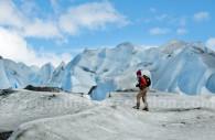 Trekking on the glaciar Viedma