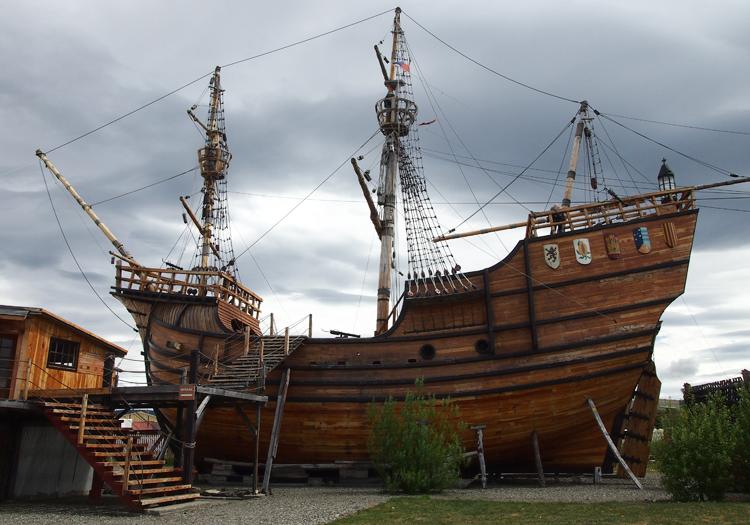 Le vaisseau Nao Victoria, Punta Arenas.