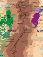 Mapa de los vinos, Mendoza y Chile