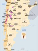 Mapa vinos Argentina y Chile