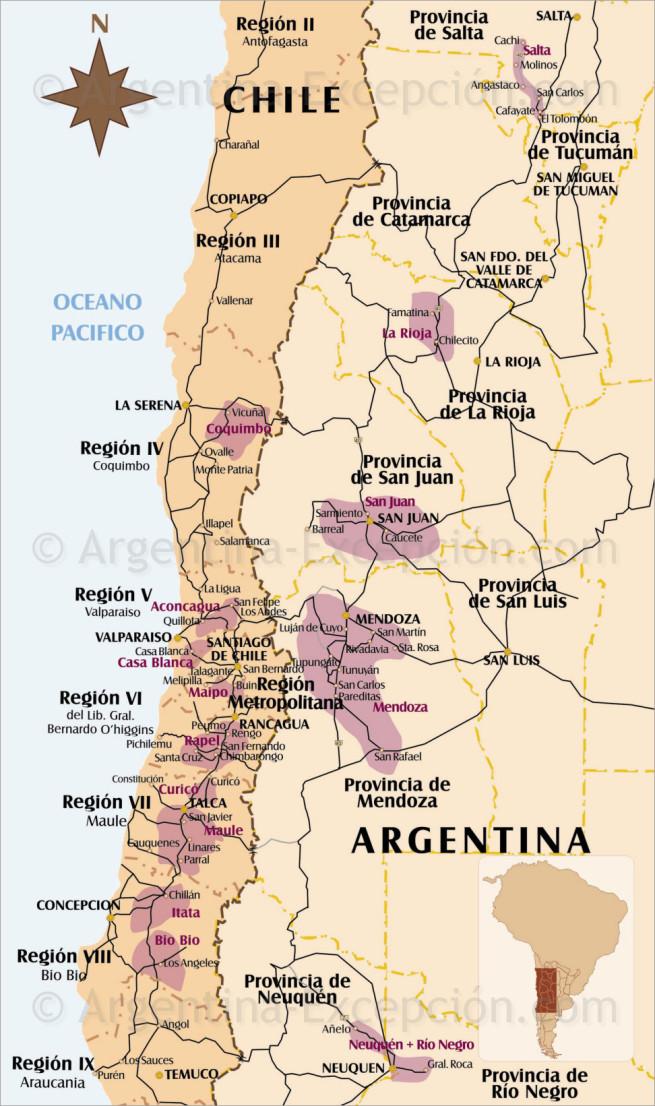 Zoom ruta de los vinos