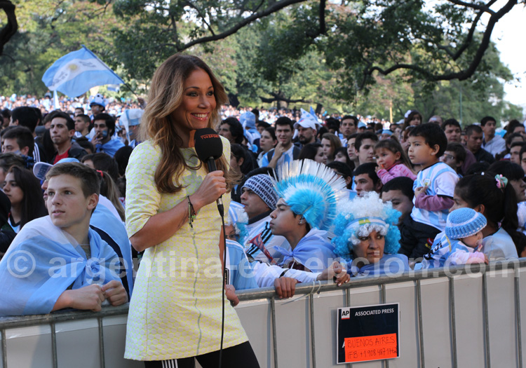 presentatrice coupe monde foot argentine