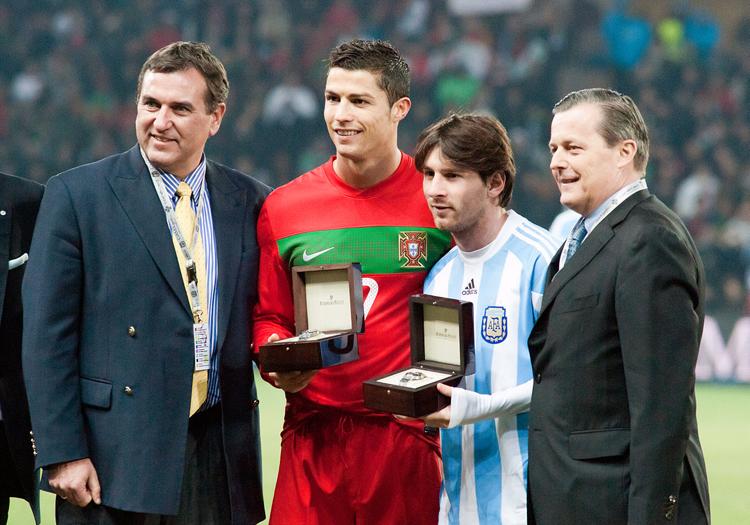 Cristiano Ronaldo et Lionel Messi - CC Wikipedia