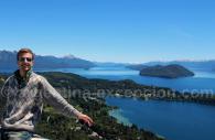 Vue sur le lac Nahuel Huapi et l'île Victoria