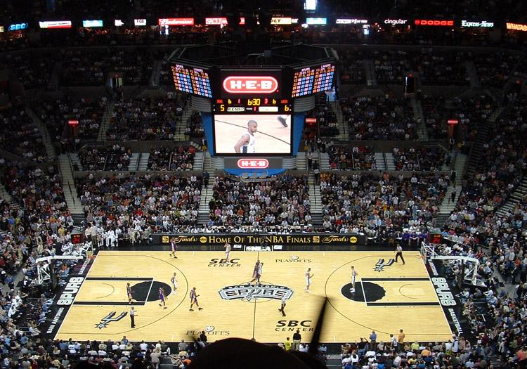Stade San Antonio spurs - Crédit licence CC