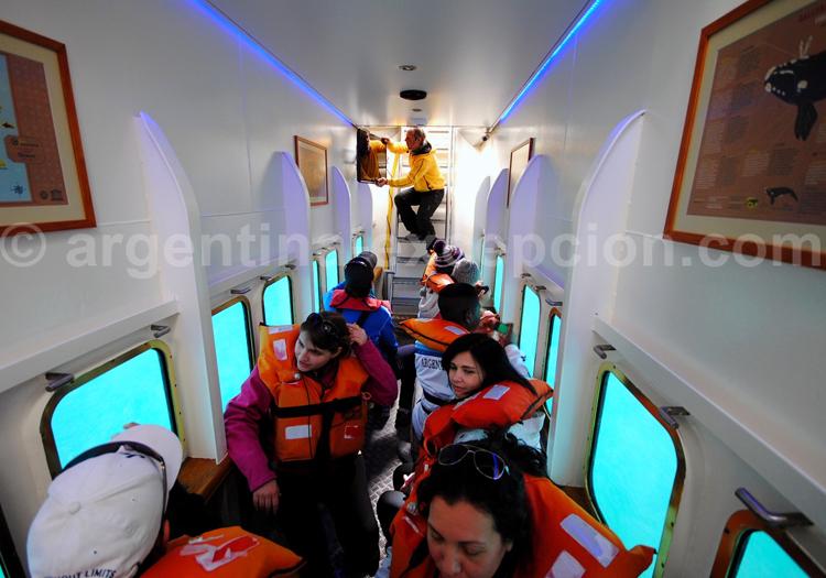 La cabine intérieure du Yellow Submarine