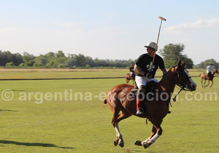 Un joueur de polo en pleine action