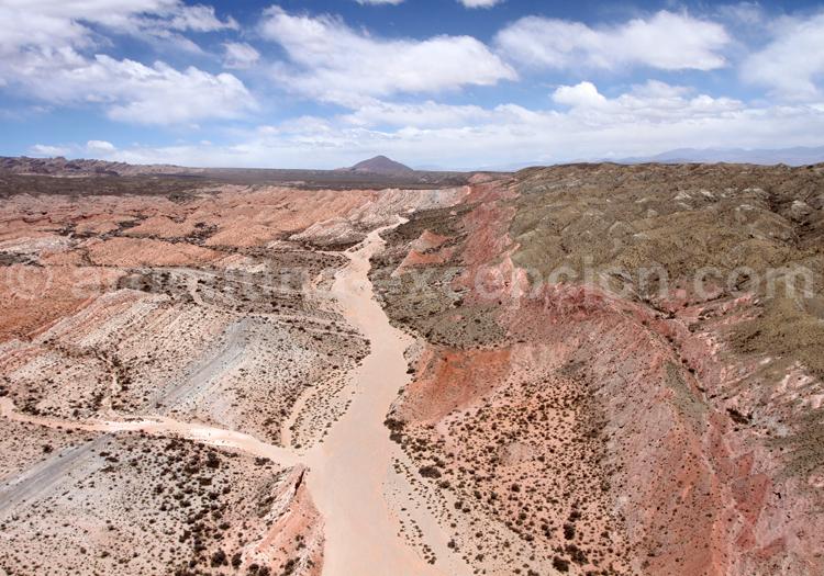 Vue aérienne sur Los Colorados