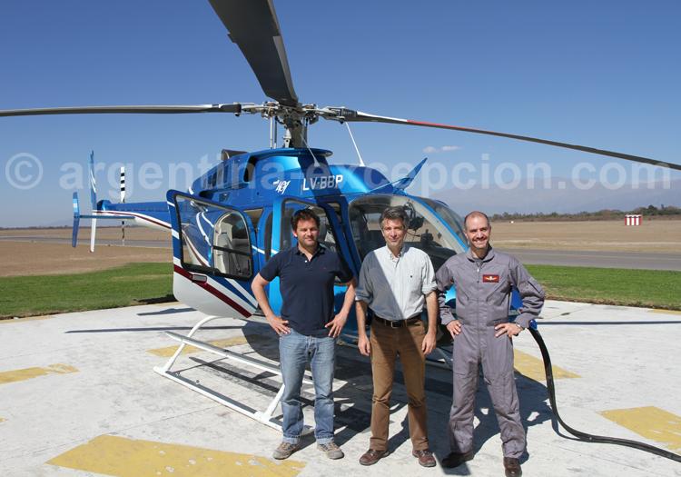 Prêt au décollage en hélico à partir de Salta