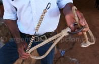 Tressage de cuir cru, Argentine