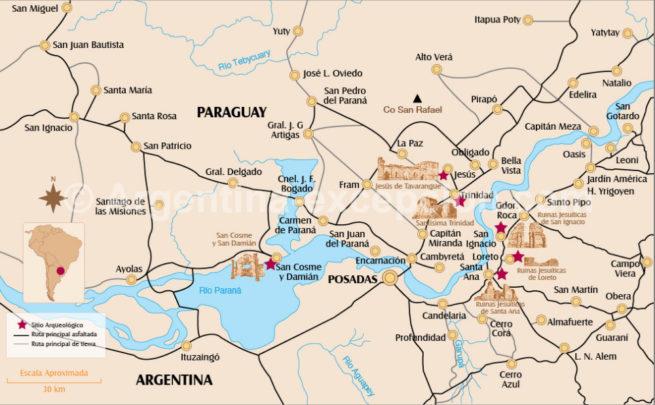 Missions d'Argentine et Paraguay