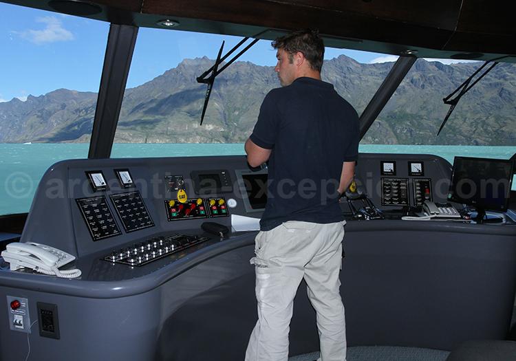 Salle de commande, bateau Santa Cruz