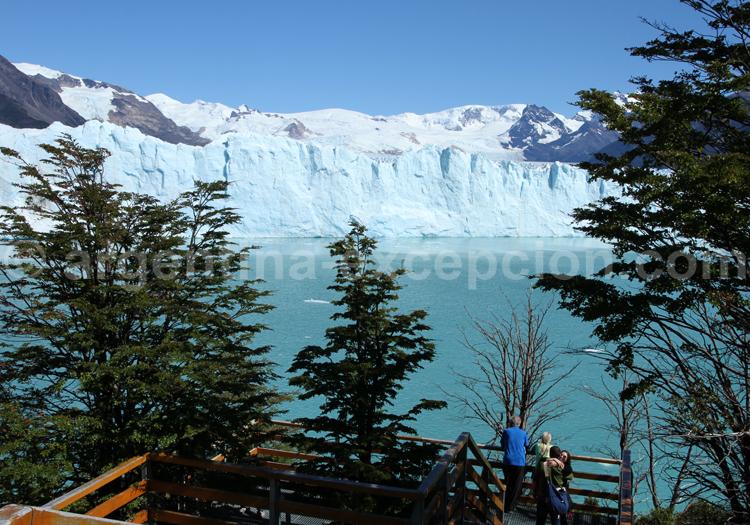 Point de vue sur le glacier