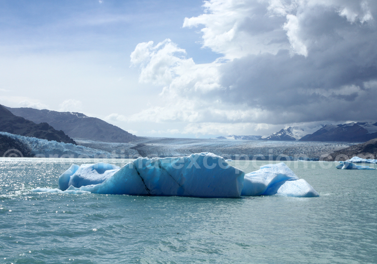 Iceberg à l'approche du glacier Upsala