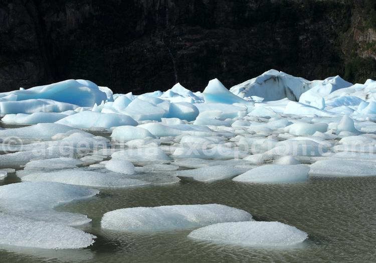Blocs de glace à la dérive