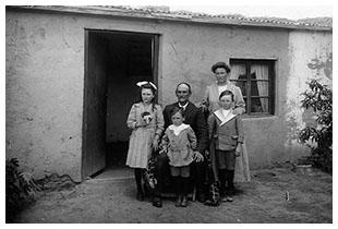Famille d'immigrants en Argentine