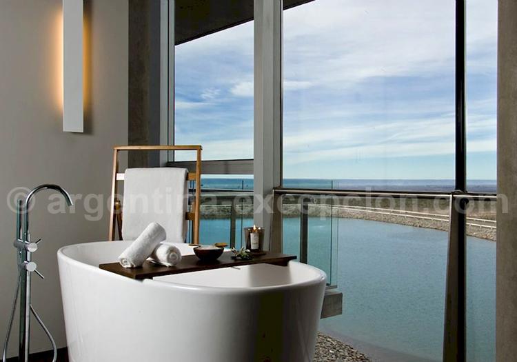 Casa de Uco, bain avec vue