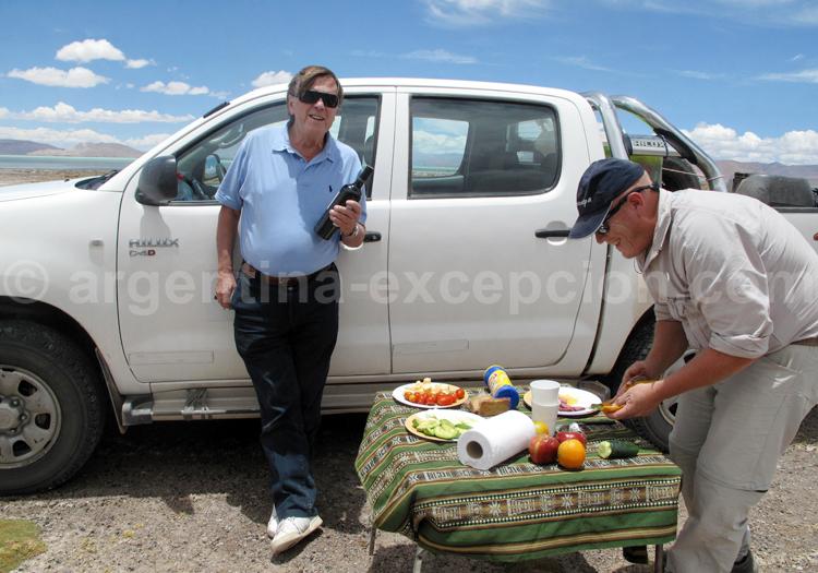 Pique nique dans l'Altiplano