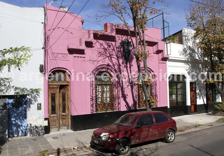 Maison coloniale et colorée, Barracas