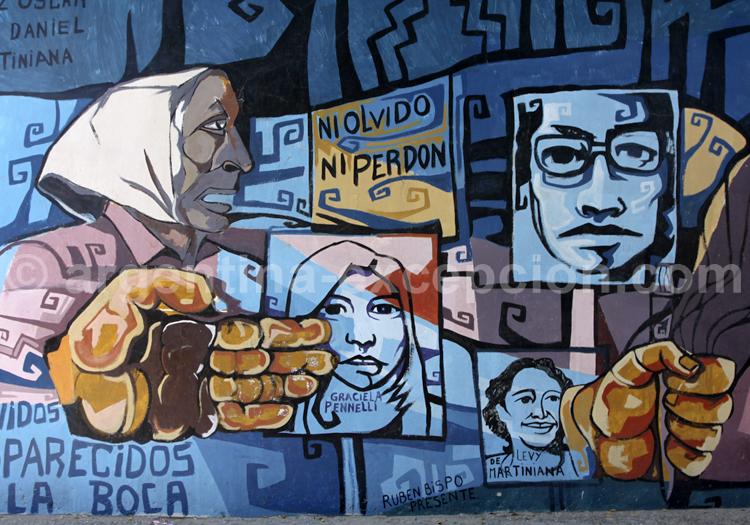 Fresque en hommage aux disparus