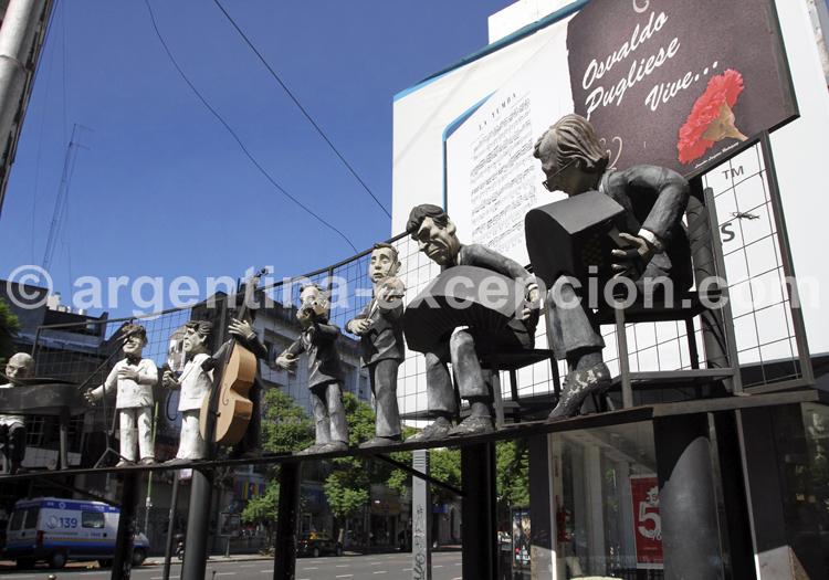 Monument en l'honneur d'Osvaldo Pugliese, Villa Crespo