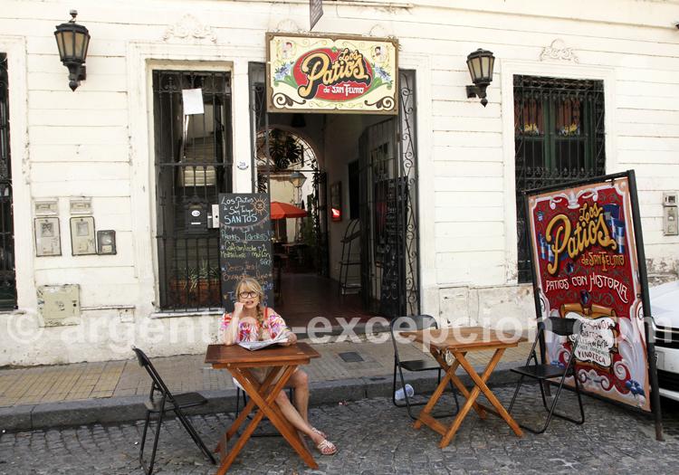 Déjeuner en terrasse, San Telmo