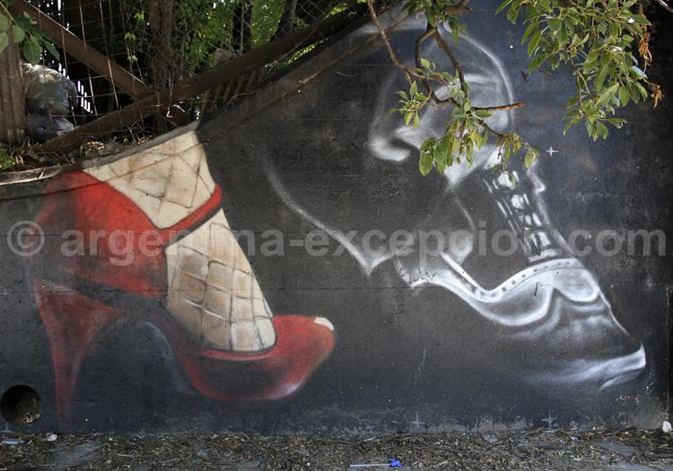 Fresque sur le thème du tango