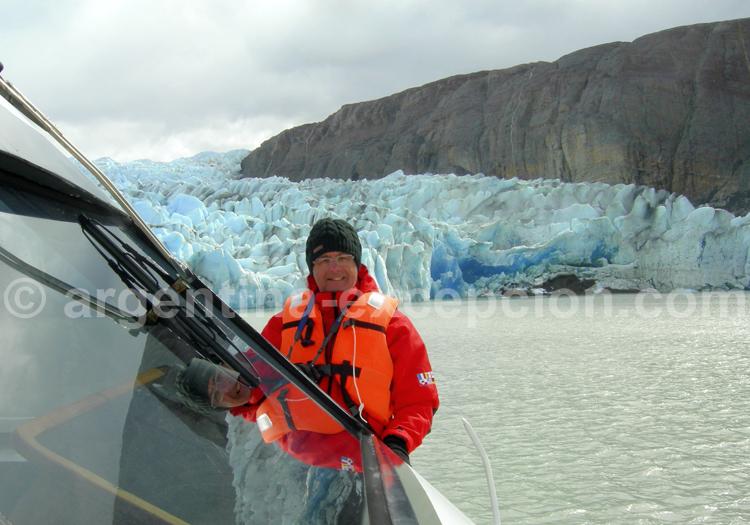 Navigation Lago et glacier Grey
