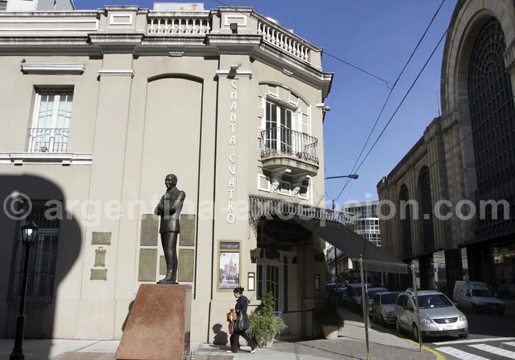 Statue Carlos Gardel, rue Gardel