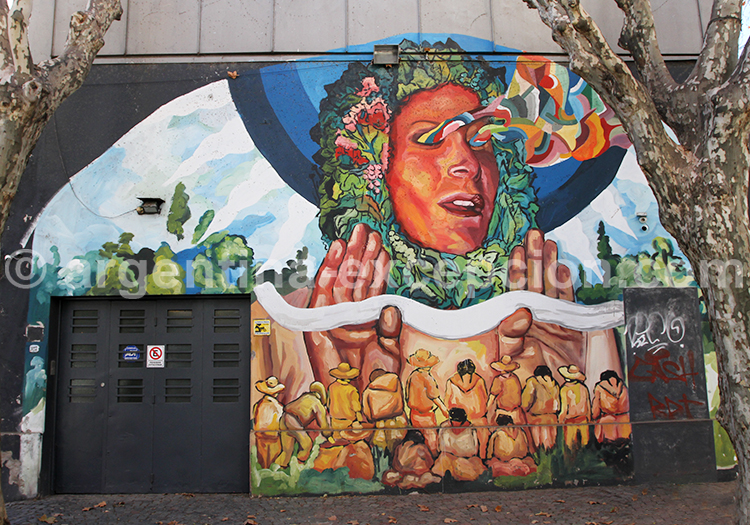 Fresque murale, Villa Crespo