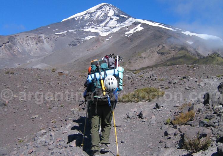 Ascension du volcan Lanín