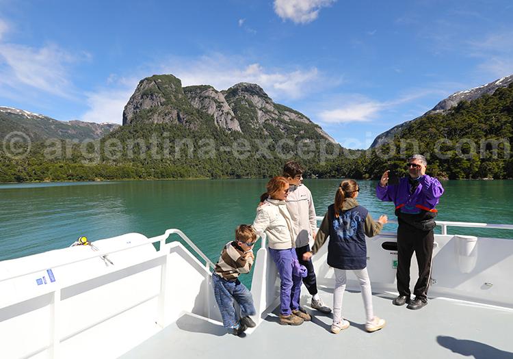 En famille sur le lac Nahuel Hapi, puerto Blest
