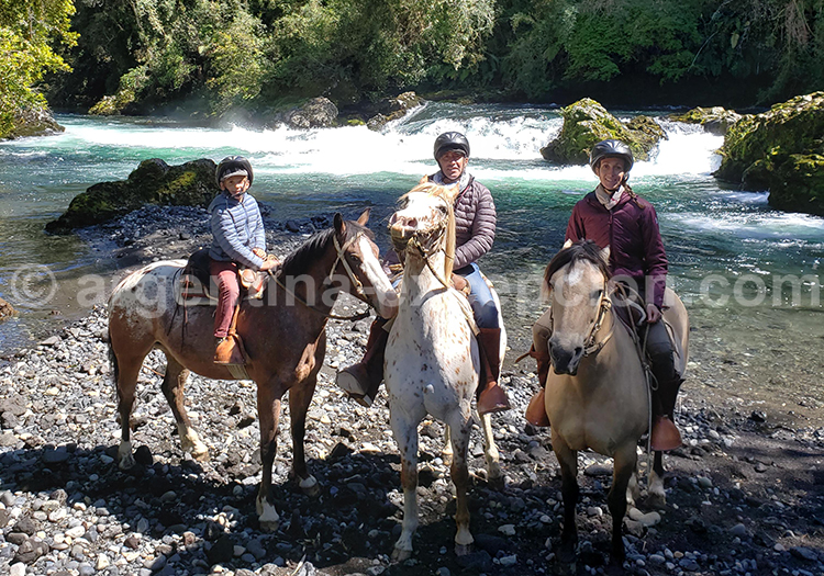 Balade à cheval dans le parc national Futangue, Chili avec l'agence de voyage Argentina Excepción