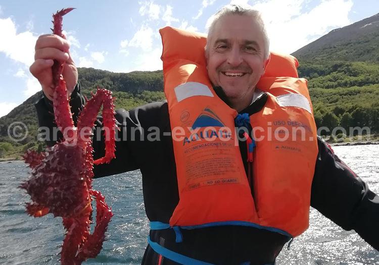 Ushuai el manzana, araignée de mer avec Argentina Excepción