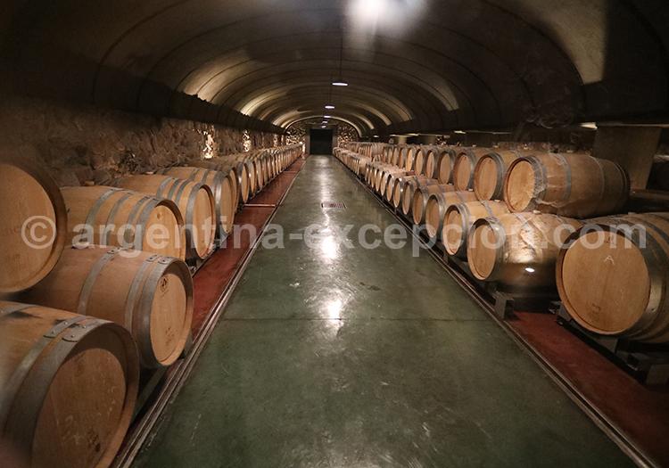 La cave de la bodega Vistalba, Mendoza avec l'agence de voyage Argentina Excepción