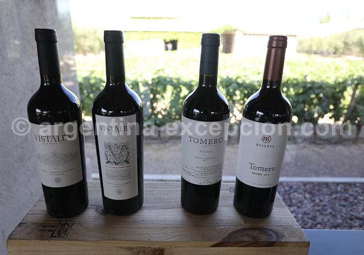 Le vin rouge d'Argentine de la région de Mendoza, bodega Vistalba avec l'agence de voyage Argentina Excepción
