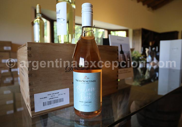 Déguster le vin rosé de la bodega Nieto Senetiner, Mendoza avec l'agence de voyage Argentina Excepción