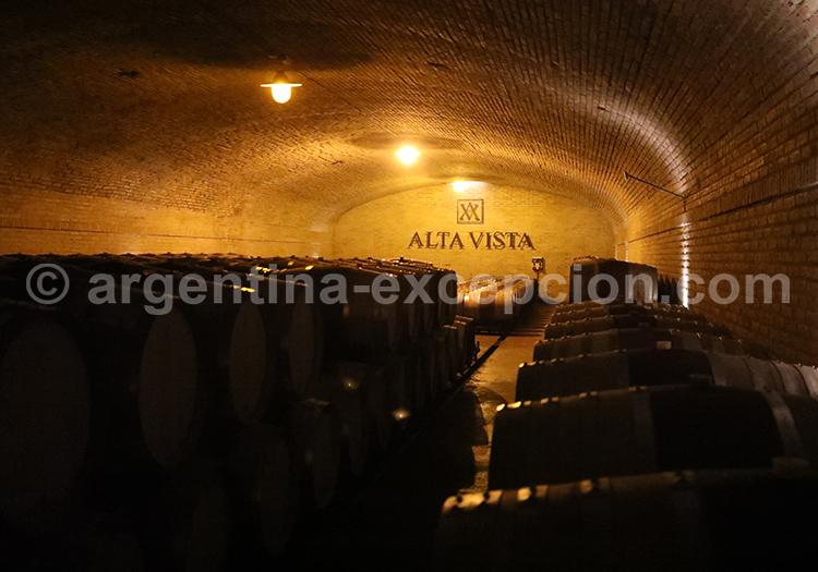 Les caves de la bodega Alta Vista, Mendoza, Argentine avec l'agence de voyage Argentina Excepción