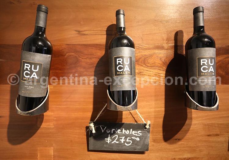 Bouteille de vin du domaine Ruca Malen, Argentine avec l'agence de voyage Argentina Excepción